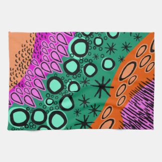 Sketchy Bright Geometric Shape Pattern Towel