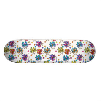 Sketchy Butterflies & Dots Skateboard
