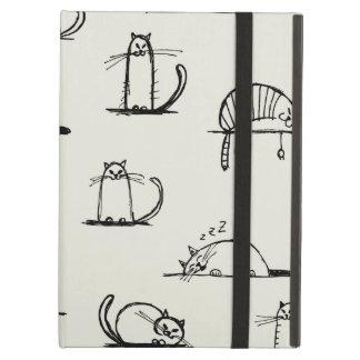 Sketchy cats iPad air case