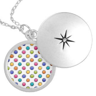 Sketchy Dots Silver Plated Necklace