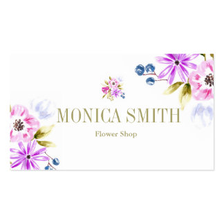 Sketchy Floral Bouquet Botanical Business Card