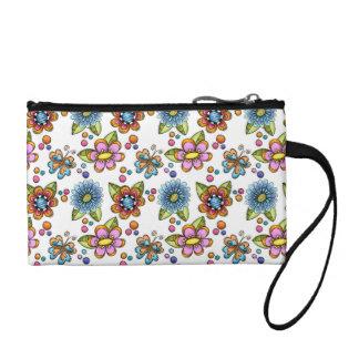 Sketchy Flowers & Butterflies Coin Wallet