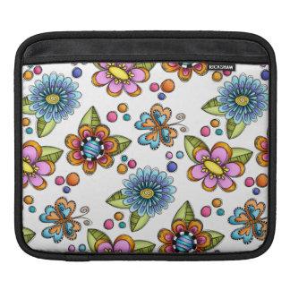Sketchy Flowers & Butterflies iPad Sleeve