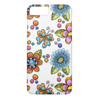 Sketchy Flowers & Butterflies iPhone 8 Plus/7 Plus Case