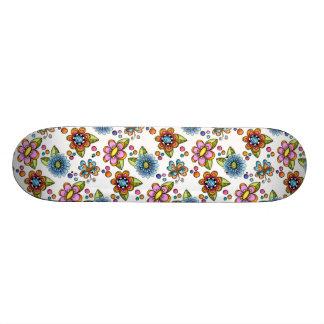 Sketchy Flowers & Butterflies Skateboard Deck