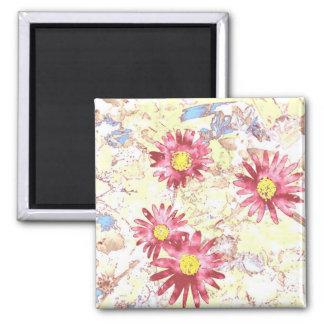 Sketchy Flowers Magnet