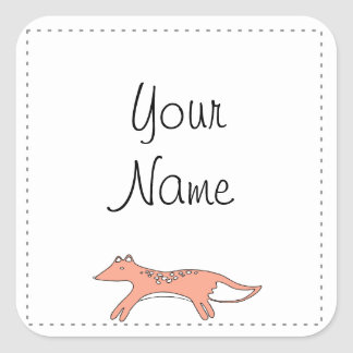 Sketchy Fox Gift Tag