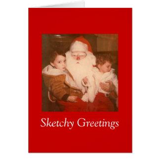 Sketchy Greetings #1 Card