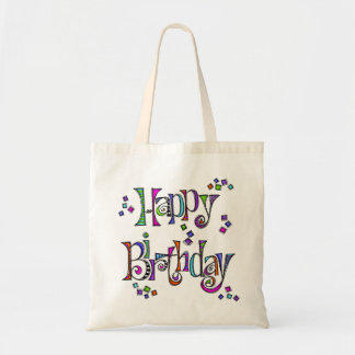 Sketchy Happy Birthday Tote Bag