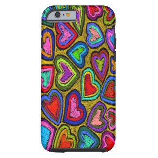Sketchy Hearts iPhone Case
