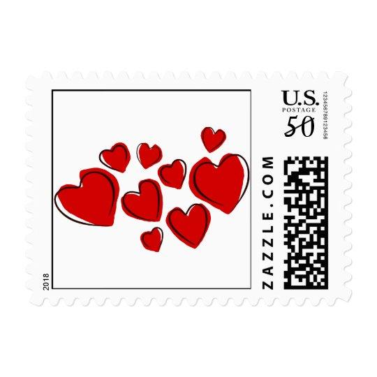 Sketchy Hearts Postage