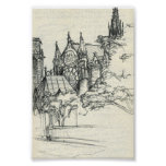 Sketchy In Paris: Notre Dame Print