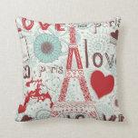 Sketchy Love in Paris. Pillows
