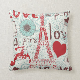 Sketchy Love in Paris. Throw Pillow