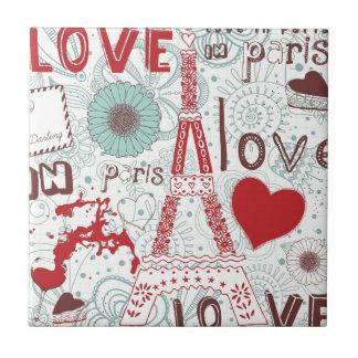 Sketchy Love In Paris. Tile