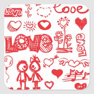 Sketchy Love stickers