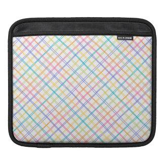 Sketchy Multicolor Plaid iPad Sleeve