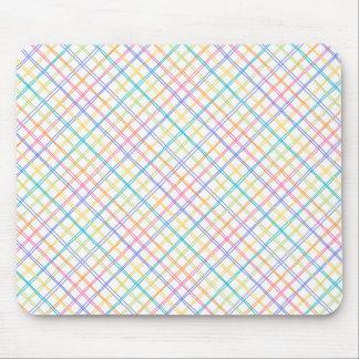 Sketchy Multicolor Plaid Mouse Pad