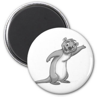 Sketchy Otter 2 Inch Round Magnet