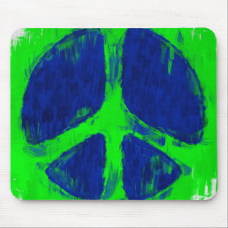 Sketchy Paint Peace Sign Mouse Pad