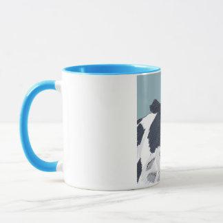 Sketchy Painted Cow in Blue Tones Mug