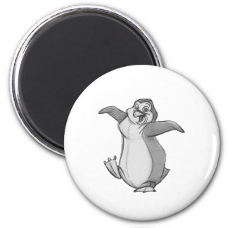 Sketchy Penguin 2 Inch Round Magnet