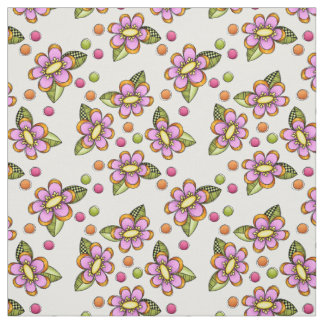 Sketchy Pink Flower Fabric