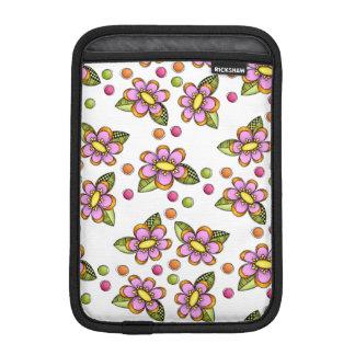 Sketchy Pink Flower iPad Mini Sleeve
