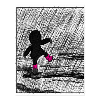 Sketchy Rain Postcard