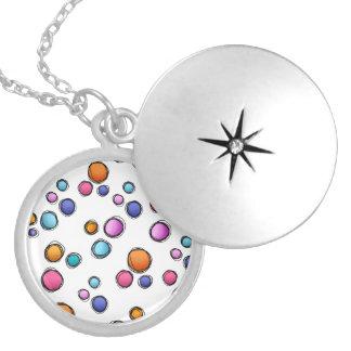 Sketchy Random Dots Locket Necklace