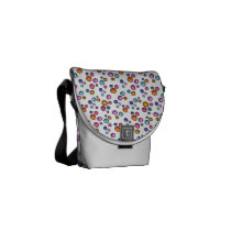 Sketchy Random Dots Messenger Bag