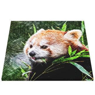 sketchy red panda canvas print