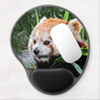sketchy red panda gel mouse pad