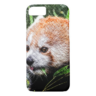 sketchy red panda iPhone 7 case