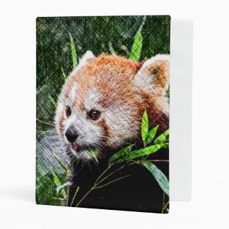 sketchy red panda mini binder