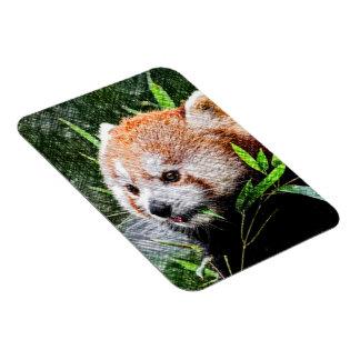 sketchy red panda rectangular photo magnet