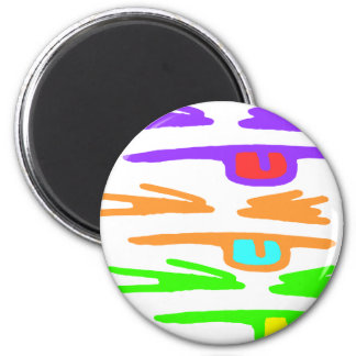 Sketchy, RGB and Rude 2 Inch Round Magnet