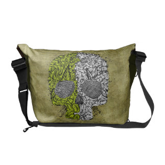 Sketchy Scull Courier Bag