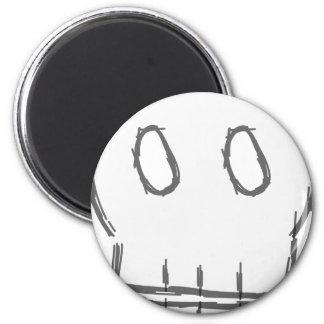 Sketchy Skull 2 Inch Round Magnet