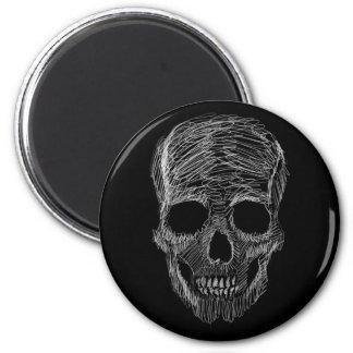 Sketchy Skull Magnet