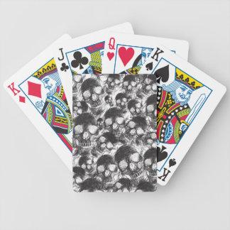 Sketchy Skulls artwork. Bicycle Playing Cards