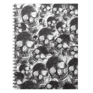 Sketchy Skulls artwork. Notebook