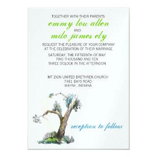 sketchy tree invitation