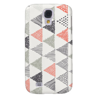 Sketchy Triangles Pattern #1 Galaxy S4 Case