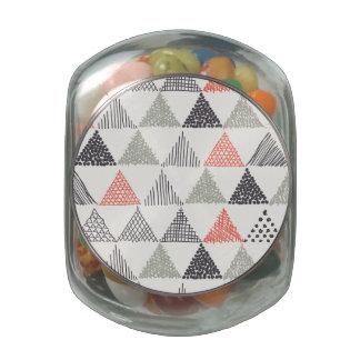 Sketchy Triangles Pattern #1 Glass Jar