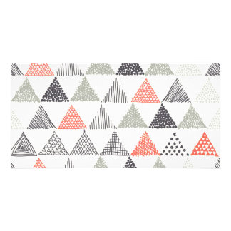 Sketchy Triangles Pattern #1 Photo Card