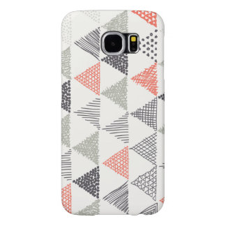 Sketchy Triangles Pattern #1 Samsung Galaxy S6 Case