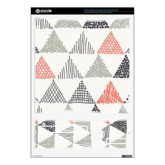 Sketchy Triangles Pattern #1 Xbox 360 S Decals
