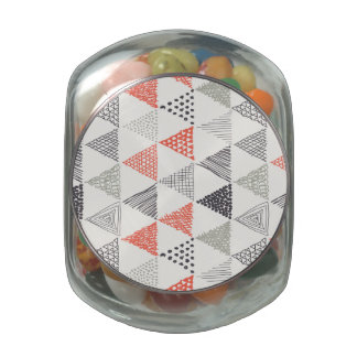 Sketchy Triangles Pattern #2 Jelly Belly Candy Jars