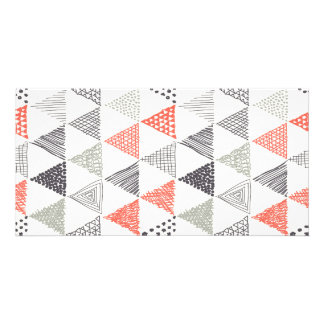 Sketchy Triangles Pattern #2 Photo Card